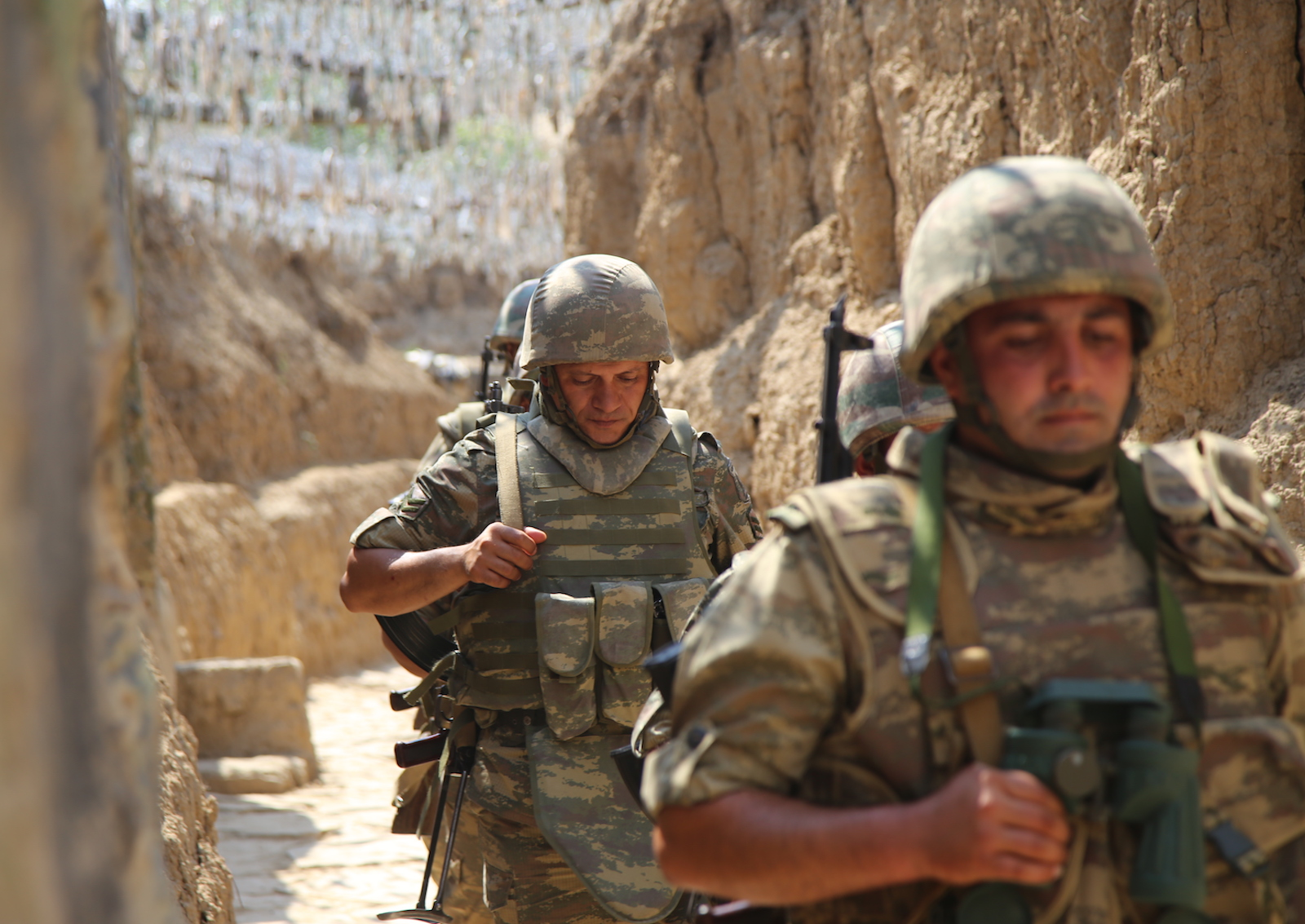 Azerbaijani soldiers. July 18, 2020. Photo: AFP Forum via Anadolu Agency/Resul Rehimov