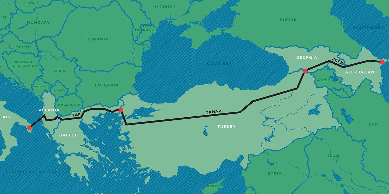 Southern Gas Corridor Route