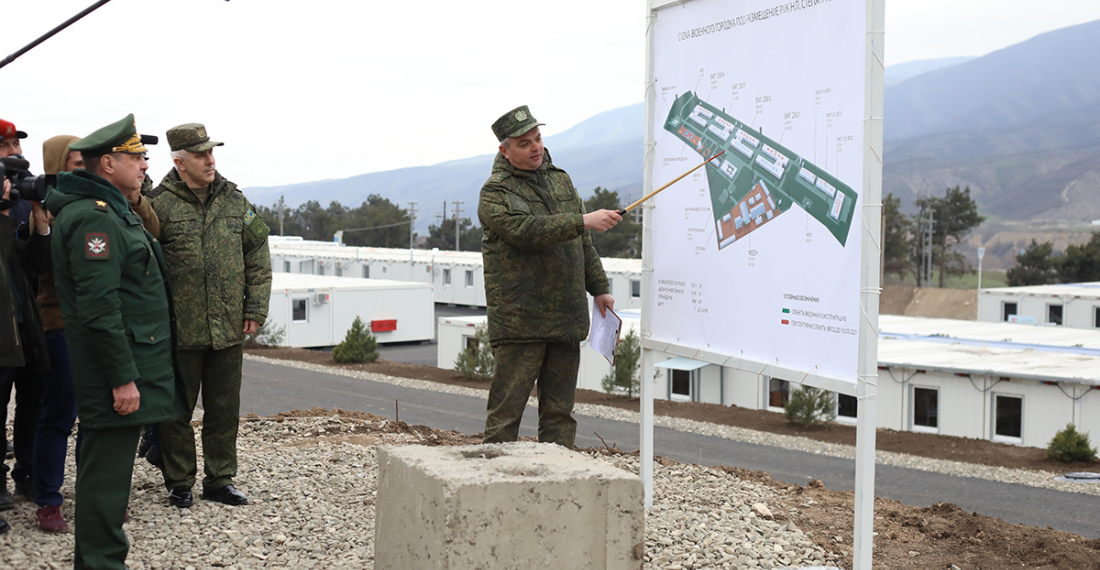 Photo: Opening ceremony of accommodation for the Russian peace-keeping contingent in Karabakh; Russian Ministry of Defence
